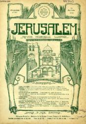JERUSALEM, 27e ANNEE, N° 167, MAI-JUIN 1932, REVUE MENSUELLE ILLUSTREE - Couverture - Format classique