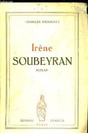 Irene Soubeyran Roman - Couverture - Format classique