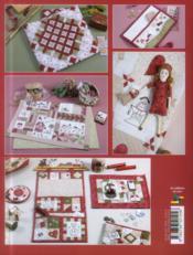 Les patchworks brodés de Marie ; broderie, patchwork, couture, dessins, transferts inclus - 4ème de couverture - Format classique