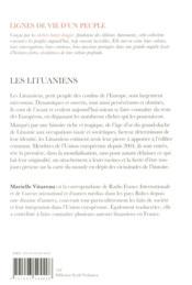 Les Lituaniens - 4ème de couverture - Format classique
