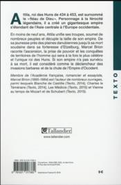Attila - 4ème de couverture - Format classique