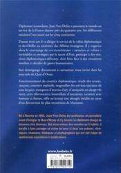 Les secrets de la valise diplomatique - 4ème de couverture - Format classique