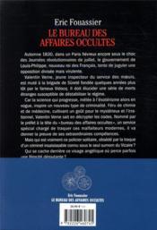 Le bureau des affaires occultes - 4ème de couverture - Format classique