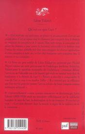 Qu'est-ce que l'art ? - preface de michel meyer - 4ème de couverture - Format classique