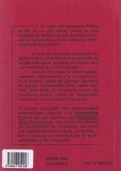 Code Des Assurances 2003 - 4ème de couverture - Format classique