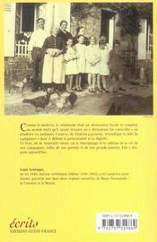 Les mémoires d'un péquenot - 4ème de couverture - Format classique