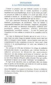 Initiation A La Psychopathologie ; Des Gens Comme Vous Et Moi - 4ème de couverture - Format classique
