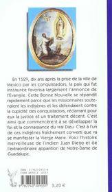 Notre Dame De Guadalupe - Un Dialogue D'Amour - 4ème de couverture - Format classique