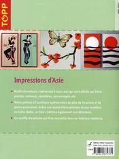 Impressions d'Asie - 4ème de couverture - Format classique