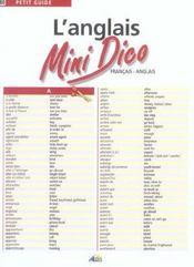 L'anglais mini-dico ; français-anglais - Intérieur - Format classique
