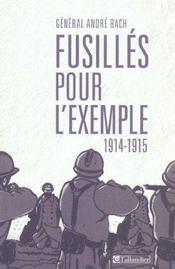 Fusillés pour l'exemple, 1914-1915 - Intérieur - Format classique