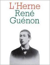 LES CAHIERS DE L'HERNE T.49 ; René Guénon - Couverture - Format classique