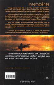 Intemperies - 4ème de couverture - Format classique