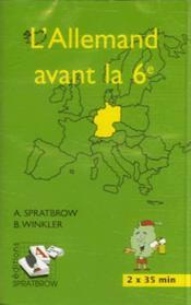 L'allemand avant la 6ème ; CD - Couverture - Format classique