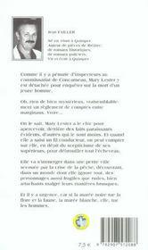 MARY LESTER T.4 ; marée blanche - 4ème de couverture - Format classique