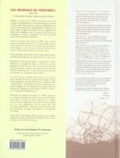 Journaux des tranchees (les) (3e édition) - 4ème de couverture - Format classique