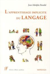 L'apprentissage implicite du langage - Couverture - Format classique