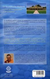 Un bouddhisme moderne ; la voie de la compassion et de la sagesse - 4ème de couverture - Format classique