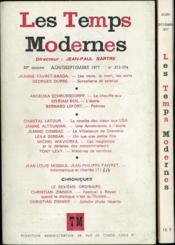 LES TEMPS MODERNES, revue mensuelle, 33° année, ao t/sept. et oct. 1977 n° 373-374 et 375, Directeur Jean-Paul Sartre - Couverture - Format classique