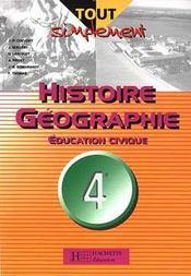 Histoire geographie education civique 4e technologique - livre eleve - ed.2004 - Intérieur - Format classique