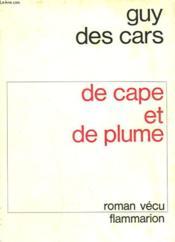 De Cape Et De Plume. - Couverture - Format classique