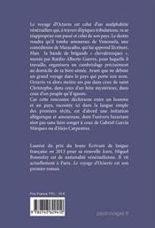 Le voyage d'Octavio - 4ème de couverture - Format classique