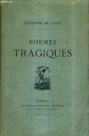 Poemes Tragiques. - Couverture - Format classique