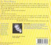 Le petit prince cd - 4ème de couverture - Format classique