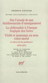 Oeuvres philosophiques completes, i, 2 : ecrits posthumes - (1870-1873) - Couverture - Format classique