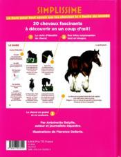 Simplissime ; le livre pour tout savoir sur les chevaux le + facile du monde - 4ème de couverture - Format classique