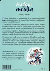 Au four et au moulin ; carnet de bord d'une mère de famille débordée - 4ème de couverture - Format classique