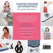 Apprendre à coudre ses vêtements et accessoires - 4ème de couverture - Format classique