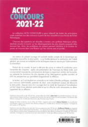 Actu'concours ; droit public 2021-2022 ; cours et QCM - 4ème de couverture - Format classique