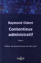 Contentieux administratif t.1 - Intérieur - Format classique