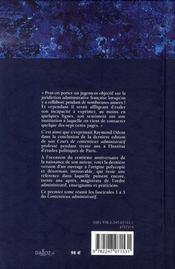 Contentieux administratif t.1 - 4ème de couverture - Format classique