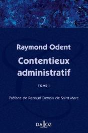 Contentieux administratif t.1 - Couverture - Format classique