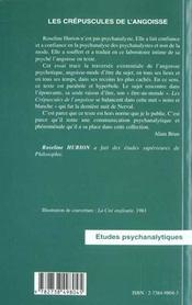 Les Crepuscules De L'Angoisse - 4ème de couverture - Format classique