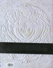 L'etoffe du relief quilts, boutis et autres textiles matelasses - 4ème de couverture - Format classique