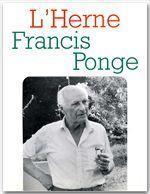 Les Cahiers De L'Herne T.51 ; Francis Ponge - Couverture - Format classique