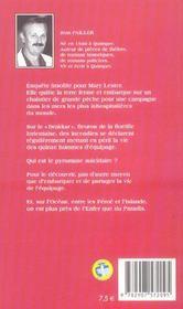 MARY LESTER T.12 ; aller simple pour l'enfer - 4ème de couverture - Format classique