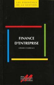 Finance d'entreprise. - Intérieur - Format classique