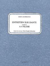 Entretien sur Dante ; la pelisse - Couverture - Format classique