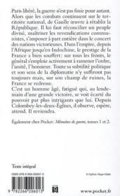 Mémoires de guerre t.3 ; le salut : 1944-1946 - 4ème de couverture - Format classique