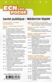 Sante Publique Medecine Legale Tout Le Programme En Fiches L'Essentiel En Format Poche - 4ème de couverture - Format classique