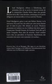 L'Empreinte Des Tenebres - 4ème de couverture - Format classique