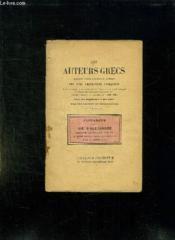 Les Auteurs Grec. Plutarque Vie D Alexandre. - Couverture - Format classique