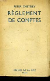Reglement De Comptes - Couverture - Format classique