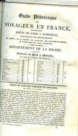 Guide Pittoresque Du Voyageur - Departement De La Drome - Couverture - Format classique