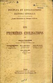Les Premieres Civilisations. - Couverture - Format classique