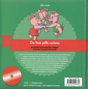 Marlène Jobert raconte ; les trois petits cochons - 4ème de couverture - Format classique